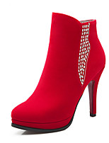 Women's Shoes Stiletto Heel Fashion Boots / Round Toe Boots Office & Career / Party & Evening / Dress