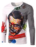Men's Fashion Personality Man 3D Printed Casual Long-Sleeve T-Shirt