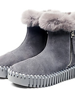 Winter Warm Genuine Fur Fashion Flat Shoes Suede Leather 2-styles Women's Snow Boots Size 35~39 Women's Shoes