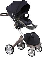 DSLAND baby stroller high-sightseeing shock-resistent two-way fleden 4-wheel sit or sleep pram