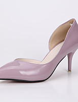 Women's Shoes Stiletto Heel Heels / Pointed Toe / Closed Toe Heels Dress Black / Purple / Red / Gray