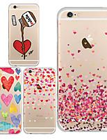 Для Кейс для iPhone 6 / Кейс для iPhone 6 Plus Ультратонкий / Прозрачный / С узором Кейс для Задняя крышка Кейс для Мультяшная тематика