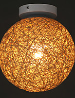E27 220V 15CM 5-15㎡The Cane Makes Up Hemp Ball Creative Fashion And Personality To Absorb Dome Light Led