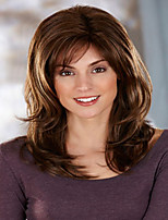 Best Seliing Charming Brown Color  Extensions European Lady Women Wig Syntheic  Wigs