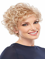 High Quality  European Lady Women  Wave Wigs Elegant Blonde Syntheic Wig