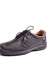 Men's Shoes Office & Career / Casual Leather Oxfords Black / Brown / Khaki
