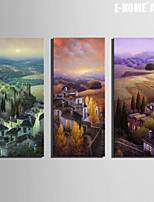 Paesaggio Print Canvas Tre Pannelli Pronto da appendere , Verticale