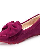 Calçados Femininos - Mocassins - Conforto / Bico Fino / Bico Fechado - Rasteiro - Preto / Azul / Rosa / Roxo / Vermelho / Vinho - Camursa