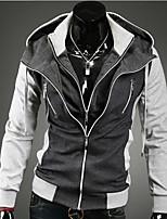 Men's Long Sleeve Hoodie & Sweatshirt , Cotton / Cotton Blend Pure