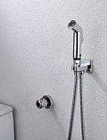 Thermostatic Bathroom/Toilet Multifunctional Shattaf Bidet Sprayer Pet Cleaner, Bubble & Powerful Two Water Functions