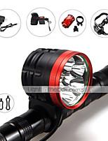 Luces para bicicleta ( A Prueba de Agua / Recargable / Resistente a Golpes / Bisel de Impacto / Táctico / Emergencia ) - LED 3 Modo 6000