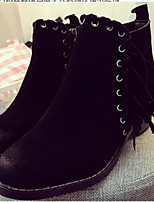 Women's Shoes  Chunky Heel Round Toe Boots Casual Black / Gray