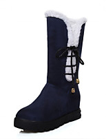 Women's Shoes Low Heel Round Toe / Closed Toe Boots Office & Career / Dress / Casual Black / Blue / Red