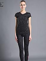 OUDIKE ® Yoga Clothing Sets/Suits Yoga Pants Breathable Stretchy Sports Wear Yoga Women's
