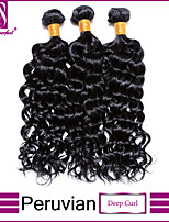 Peruvian Deep curl Virgin Hair Bundles Cheap Malaysian Deep Curl 100% Human Deep Curl hair weave