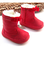 Baby Shoes Outdoor / Casual Fabric / Leatherette Boots Red