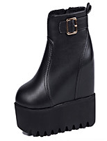 Women's Shoes  Wedge Heel Round Toe Boots Casual Black