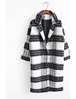Cappotto Da donna Casual Manica lunga Tweed