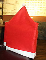 Santa Hat Chair Cover for Christmas Dinner Table Party Decoration