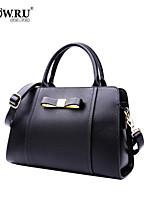 HOWRU ® Women 's PU Tote Bag/Single Shoulder Bag/Crossbody Bags-Black/Wine