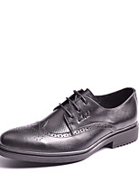 Men's Shoes Outdoor / Office & Career / Casual Leather Oxfords Black / Brown