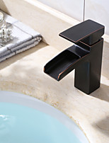 Square Shape ORB Oil Rubbed Bronze Basin Sink Washing Single Lever Vessel Faucet
