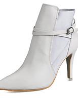 Chaussures Femme - Habillé / Décontracté - Noir / Blanc - Talon Aiguille - Talons / Bottine / Bout Pointu / Bout Fermé - Bottes -
