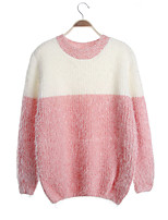 Women's Fashion Casual Striped Gradient Cashmere Pullover Knit Sweater