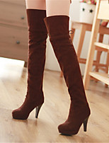 Women's Shoes Stiletto Heel Fashion Boots / Pointed Toe Boots Party & Evening / Dress / Casual Black / Brown