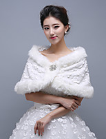 Classic Sleeveless Wedding Wraps Imitation Cashmere Capelets with Crystal