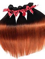 cabelos lisos sedoso ombre virgem brasileiro tece 1pcs dois tom T1b / 30 remy extensões de cabelo humano tramas 50g / pcs