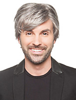 High Quality Synthetic Short Straight Gray Color Man'S Wigs