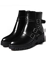 Chaussures Femme - Extérieure - Noir - Talon Bas - Confort - Bottes - Similicuir