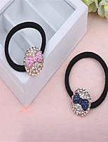 The new 2015 crystal studded bow design headdress flower hair ring hair rope