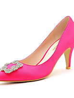 Women's Shoes Synthetic Stiletto Heel Heels / Comfort Heels Party & Evening / Dress / Casual Black / Red