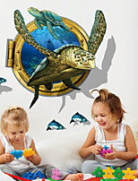 3D Wall Stickers Wall Decals, Sea Turtle PVC Wall Stickers