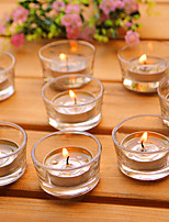 Glass Base Simple Candle for Wedding Birthday Confession Party Gift(10pcs/set)