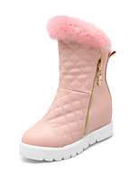 Women's Shoes Leatherette Wedge Heel Wedges / Snow Boots Boots Outdoor / Office & Career / Casual Black / Pink / Beige