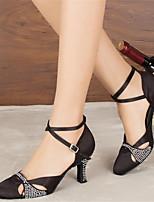 Sapatos de Dança(Preto Azul) -Feminino-Personalizável-Moderna