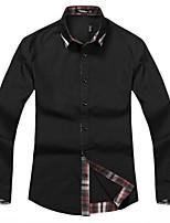 Winter men's personality childe men tide male fashion slim pure cotton shirt collar