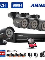 annke 8ch système 960H CCTV enregistreur vidéo étanche 900tvl sécurité à la maison caméra de surveillance kits 1To HDD