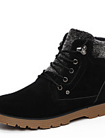 Men's Boots Spring / Fall / Winter Others Suede Outdoor / Casual Flat Heel Studded / Lace-up Black / Blue Walking / Others