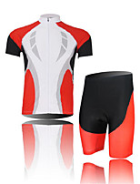 Men's Short Sleeve Cycling Clothing Sets/Suits ShortsBreathable / Ultraviolet Resistant /Moisture Red+White