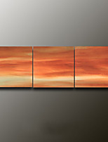 Hand-Painted Landscape Modern Oil Painting , Canvas Three Panels