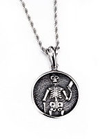 2016 New Fashion Jewelry Punk 316L Stainless Steel Skull Pendant Necklace 760mm Long Chain Men's Necklaces