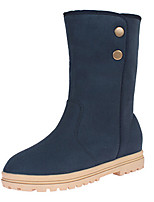 Women's Shoes Suede Platform Bootie / Round Toe / Closed Toe Boots Dress / Casual Black / Blue / Green