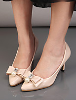Women's Shoes Patent Leather Stiletto Heel Pointed Toe Heels Dress Pink / Almond