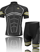Men's Short Sleeve Cycling Clothing Sets/Suits ShortsBreathable / Ultraviolet Resistant /Moisture Black