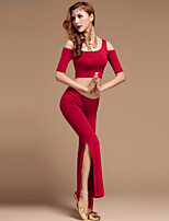 Belly Dance Outfits Women's Performance Cotton / Polyester / Modal Draped 2 Pieces 4 Colors