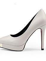 Women's Shoes Metal Toe Stiletto Heel Fashion Shoes Wedding/Banquet/Dresses Red/Black/White